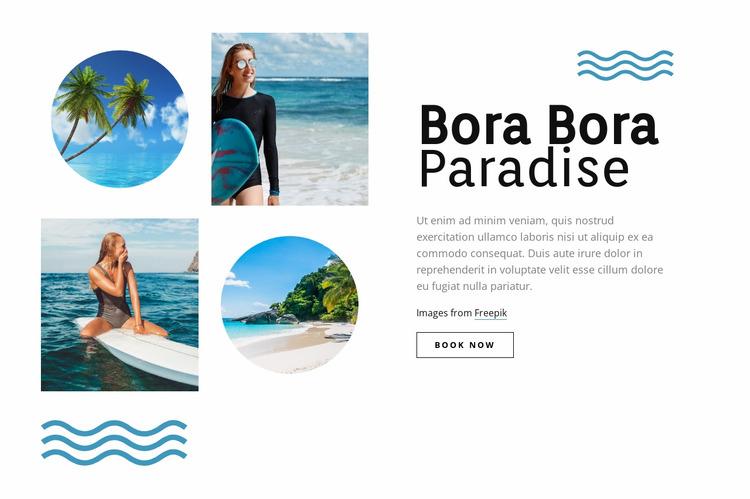 Bora Bora paradise Html Website Builder