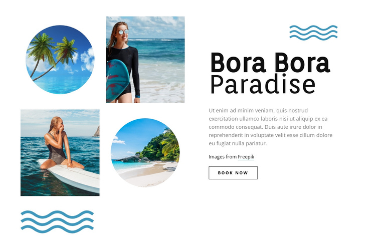 Bora Bora paradise Website Builder Software