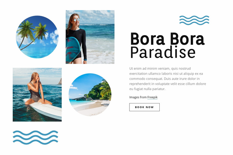 Bora Bora paradise WordPress Website Builder