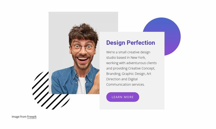 Expert web designers Landing Page