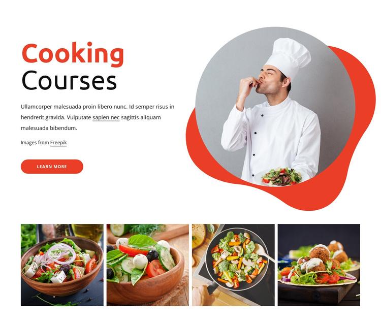 Cooking courses Joomla Template