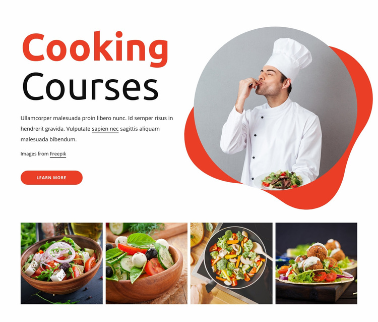 Cooking courses Web Page Designer