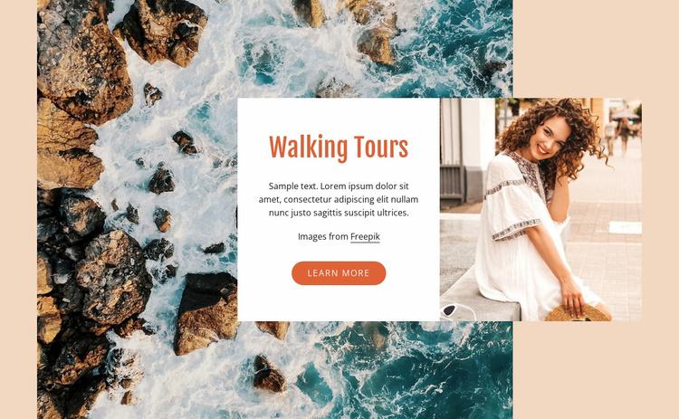 Walking tours Website Template