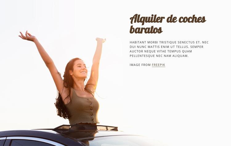Alquiler de coches baratos Plantilla de sitio web