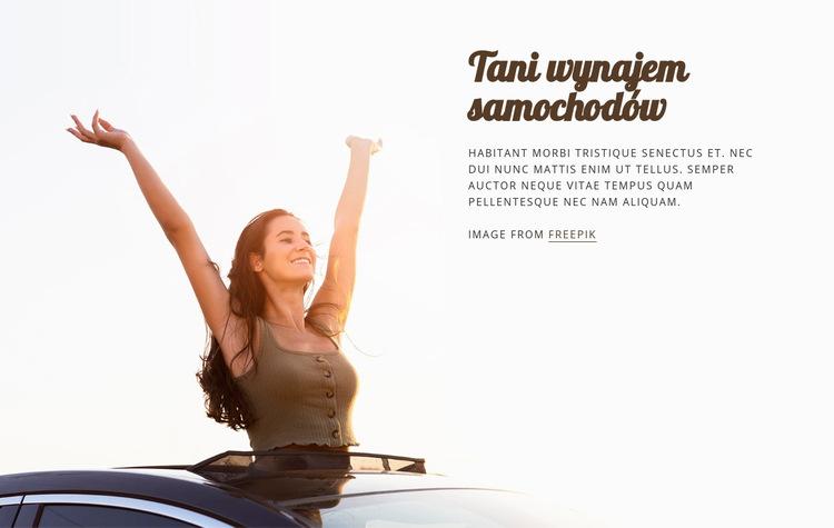 Tanie wypożyczenie samochodu Szablon witryny sieci Web