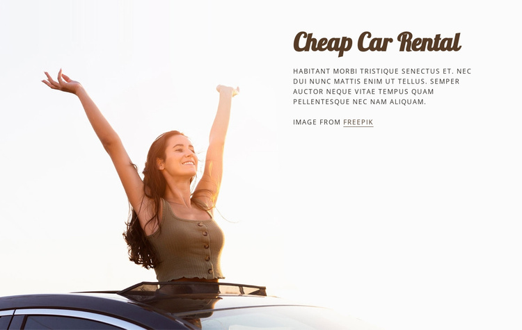 Cheap car rent Website Template