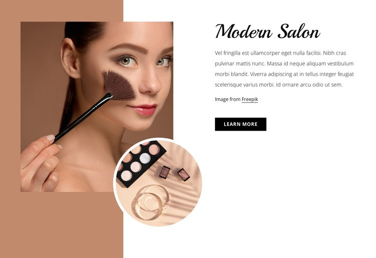 Modern make-up studio Html Code Example