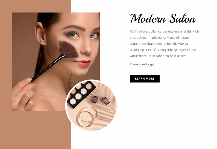 Modern make-up studio Website Maker