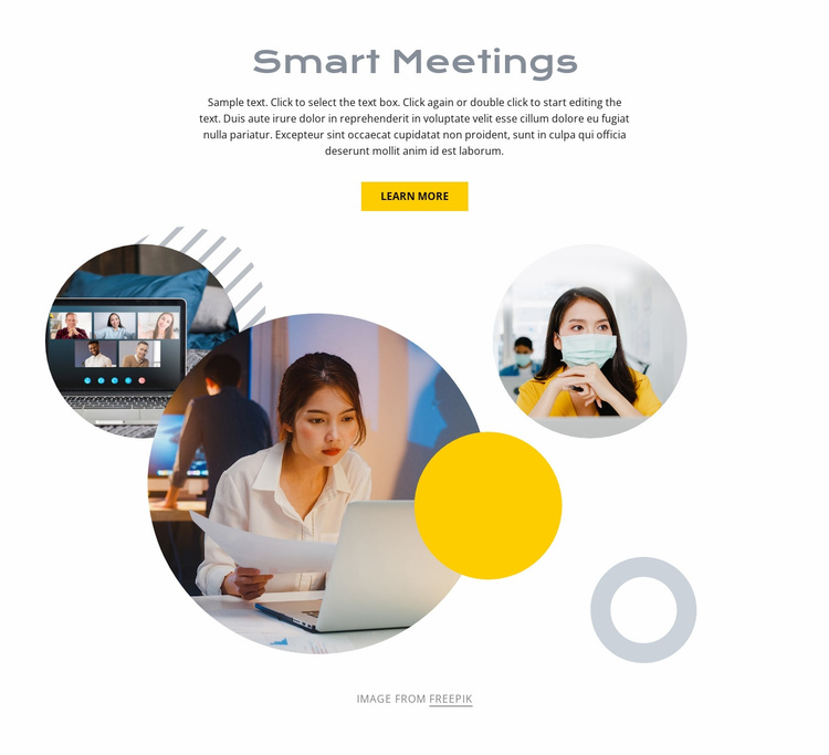 Smart meetings Landing Page