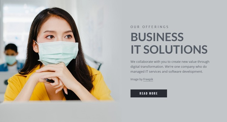 Business IT solutions WordPress Template