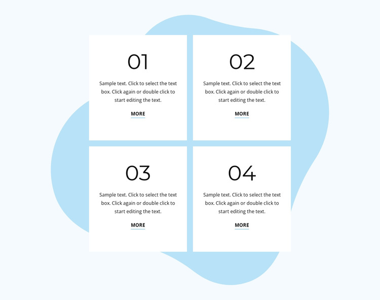Beautiful numbered list HTML5 Template