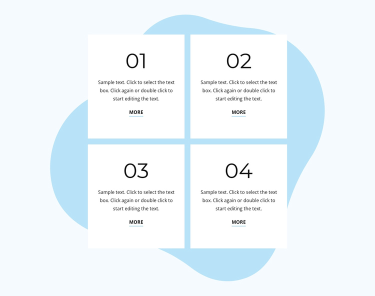Beautiful numbered list Website Builder Software