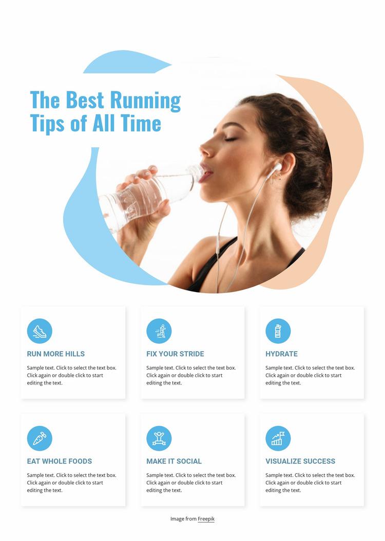 The best running tips Website Mockup