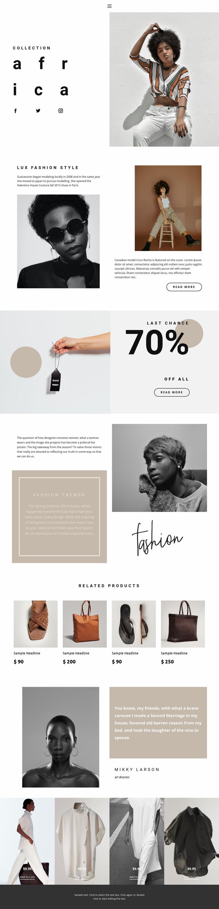 Fashion ideas and advance Web Page Designer