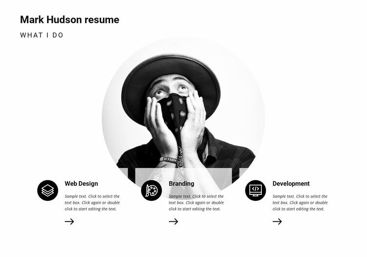 My resume Web Page Designer