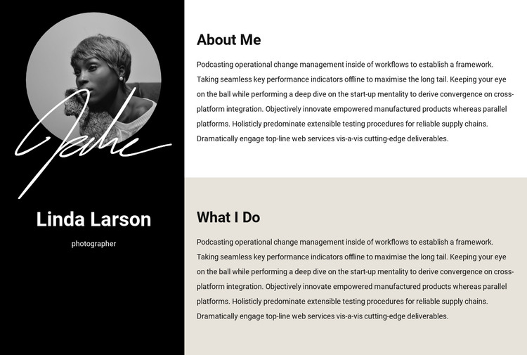 Resume information HTML Template