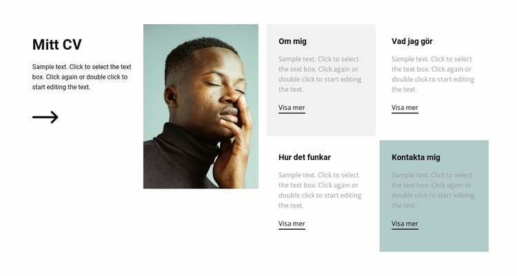 Det är mitt CV Webbplats mall