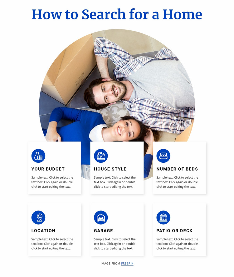How to search home Website Builder