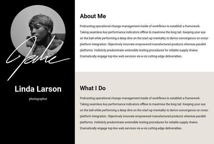 Resume information Website Mockup