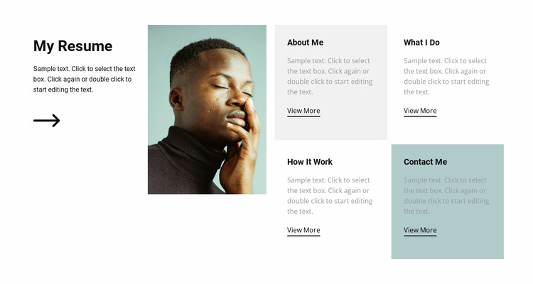 It's my resume Website Mockup
