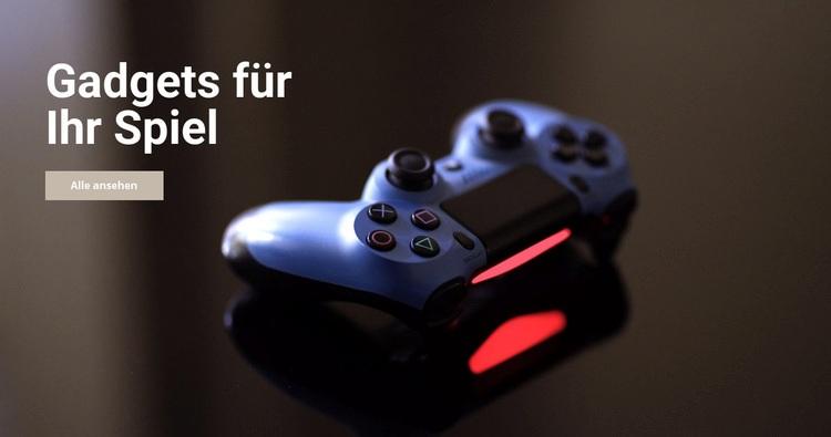 Gadgets für das Spiel Website-Vorlage