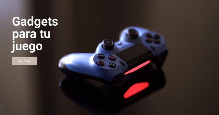 Gadgets para juegos Plantilla de sitio web