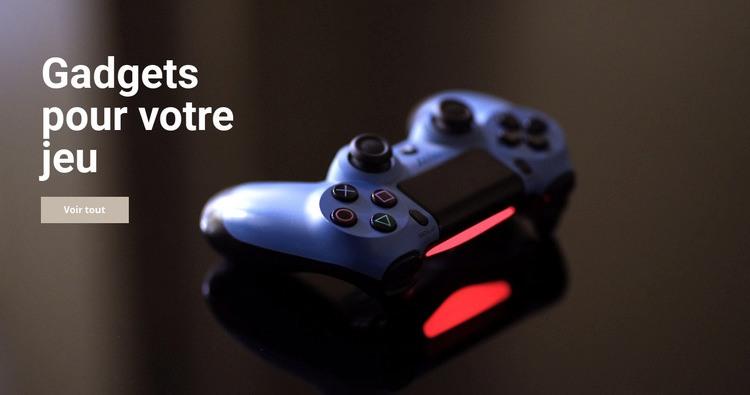 Gadgets pour le jeu Modèle de site Web