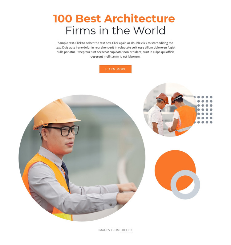 We are a team of architects HTML Template