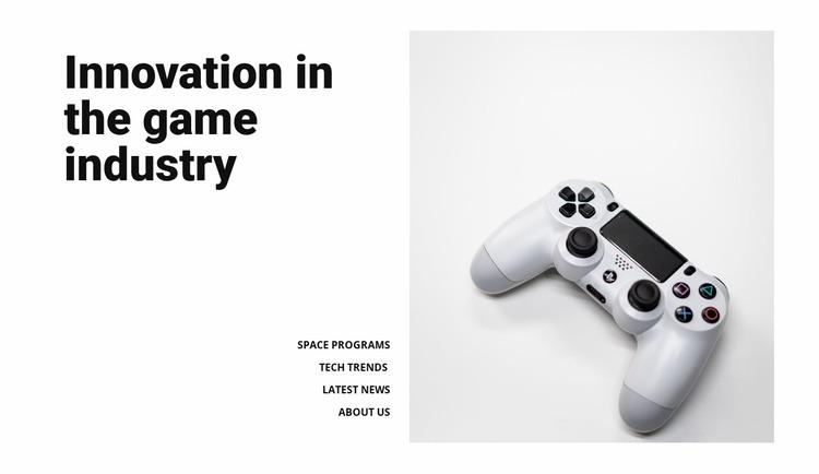 Game industry Html Website Builder