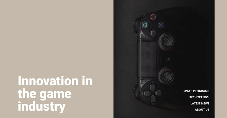 Innovation in game industry Joomla Template