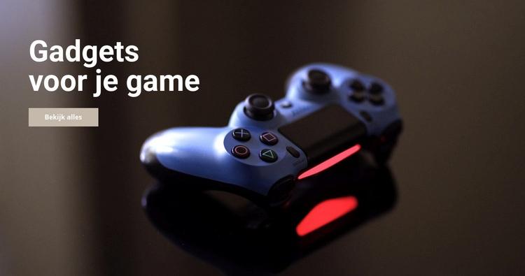 Gadgets voor games Website sjabloon