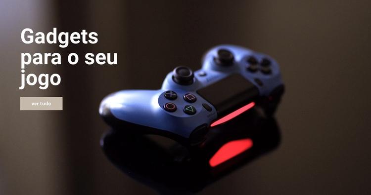 Gadgets para jogo Modelo de site
