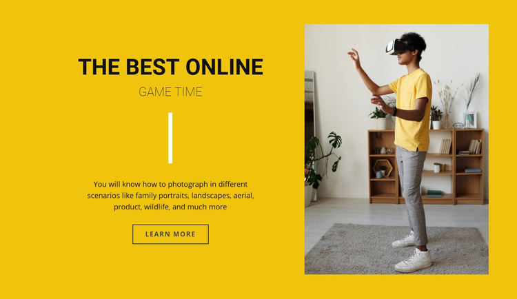 The best online games Web Page Design
