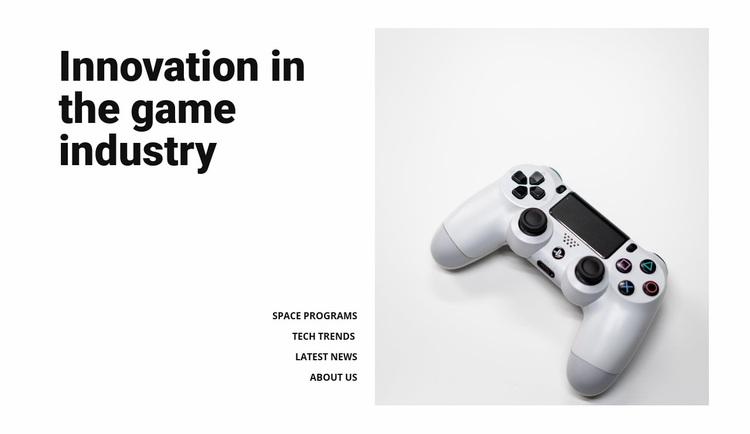 Game industry Web Page Designer
