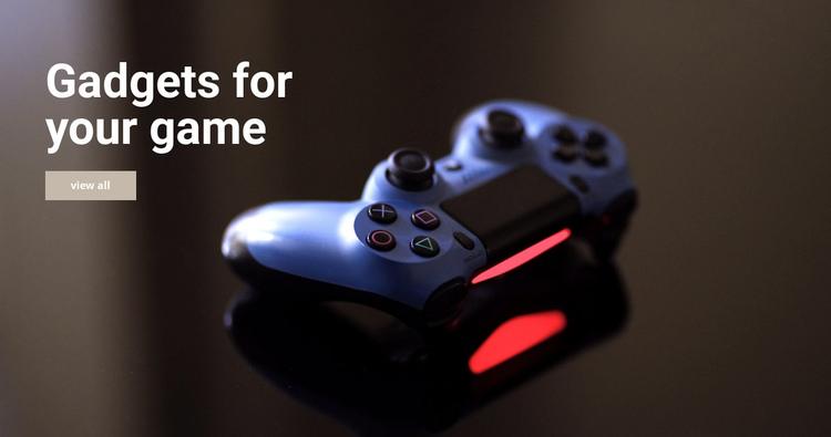 Gadgets for game Website Builder Software
