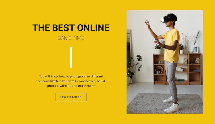 The best online games Website Mockup
