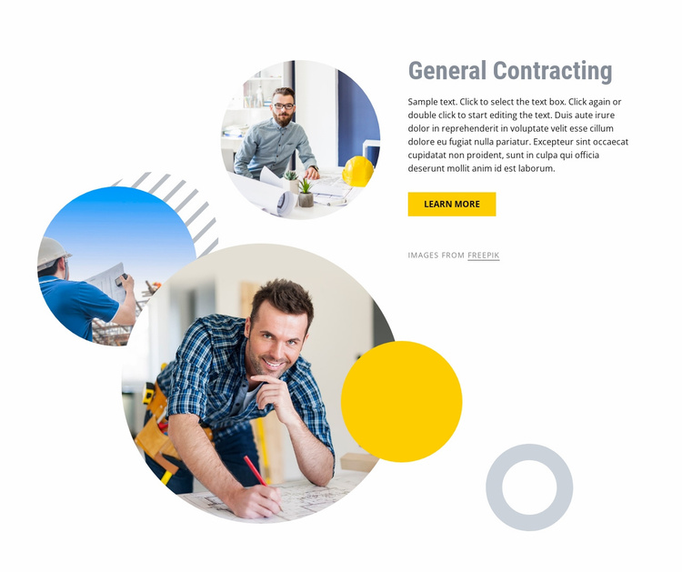 General contracting Landing Page