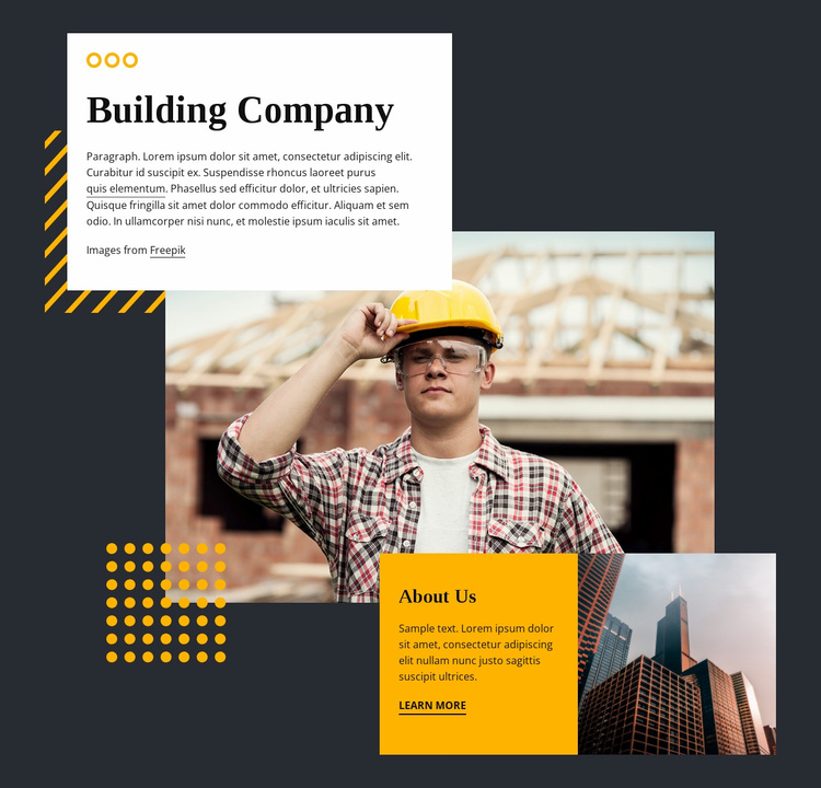 To build a legacy of excellence Landing Page