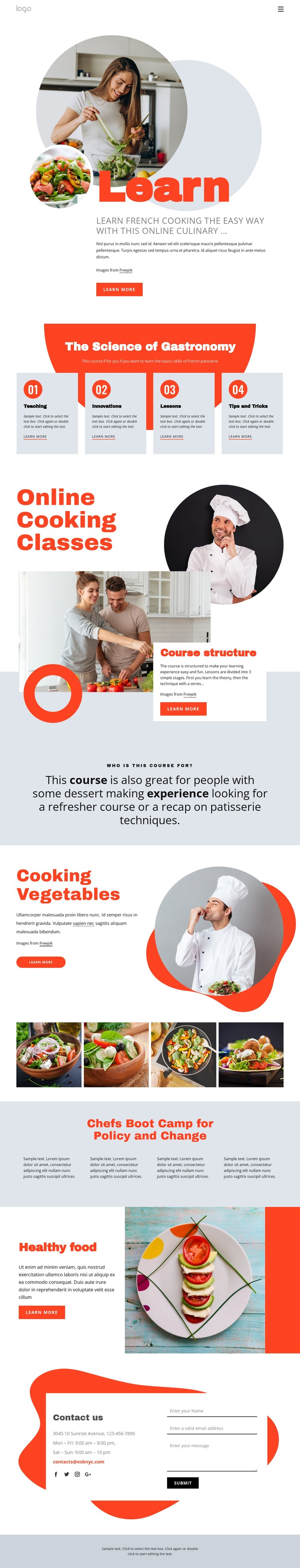 Learn cooking the easy way CSS Template