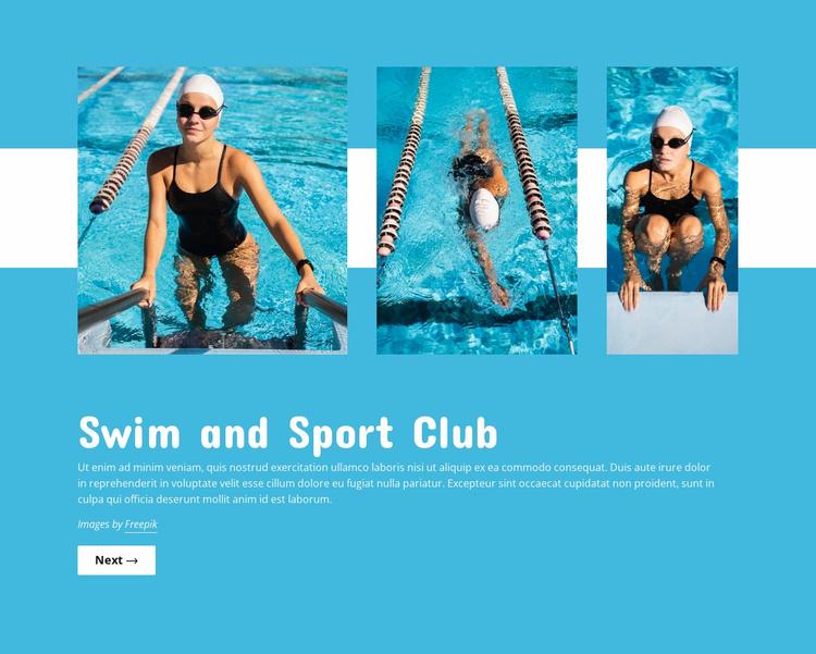 Swimming pool club Website Template