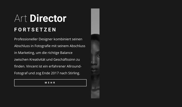 Art Director Lebenslauf Website-Vorlage