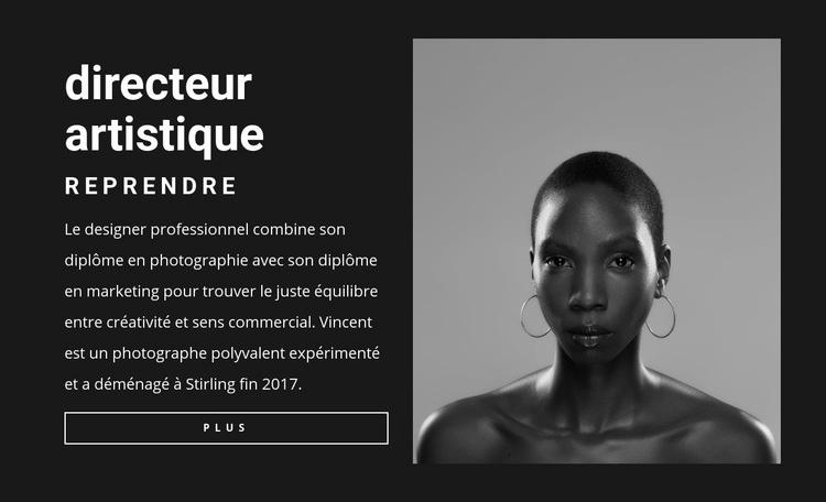 CV de directeur artistique Modèle de site Web