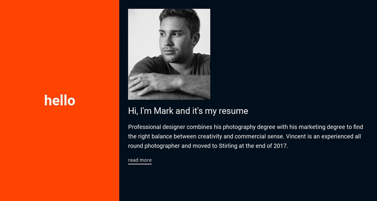 Hello, it's my resume HTML Template