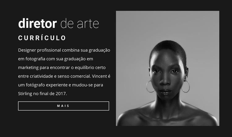 Currículo do diretor de arte Modelo de site
