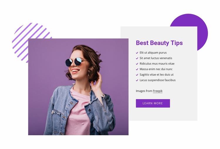 Best beauty tips Website Mockup