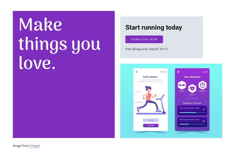 Start running app WordPress Theme