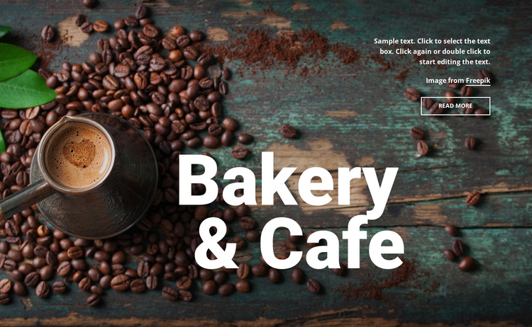 Bakery & cafe One Page Template