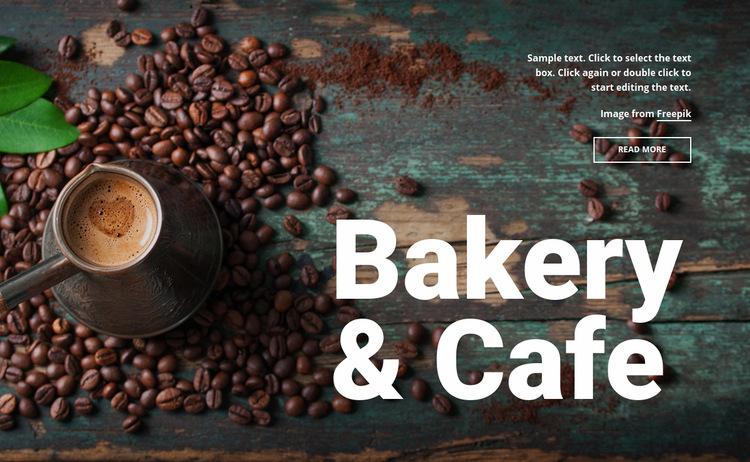 Bakery & cafe Web Page Design