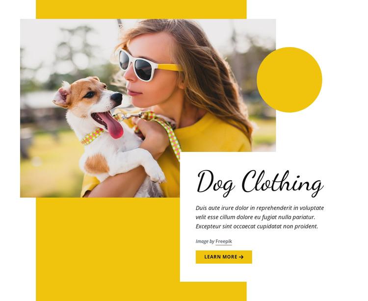 Dog clothing fashion HTML Template