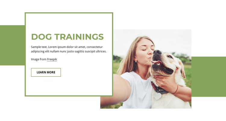 Puppy and adult dog training  HTML Template